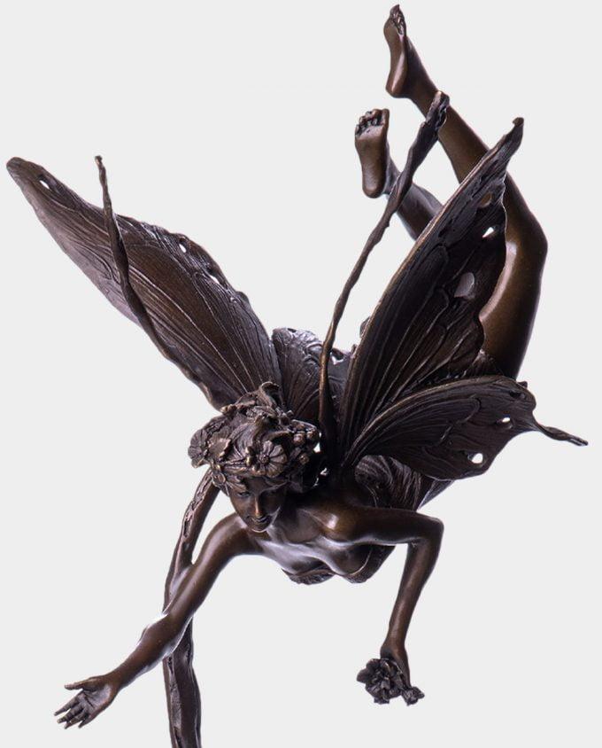 Latający Elf Rzeźba z Brązu