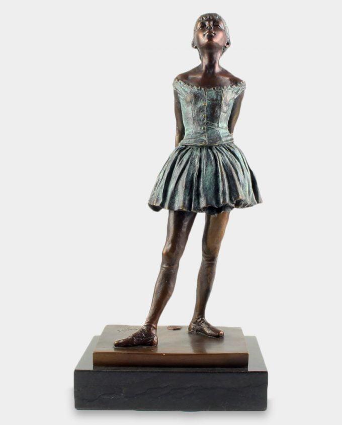14-letnia Baletnica Rzeźba z Brązu Patyna