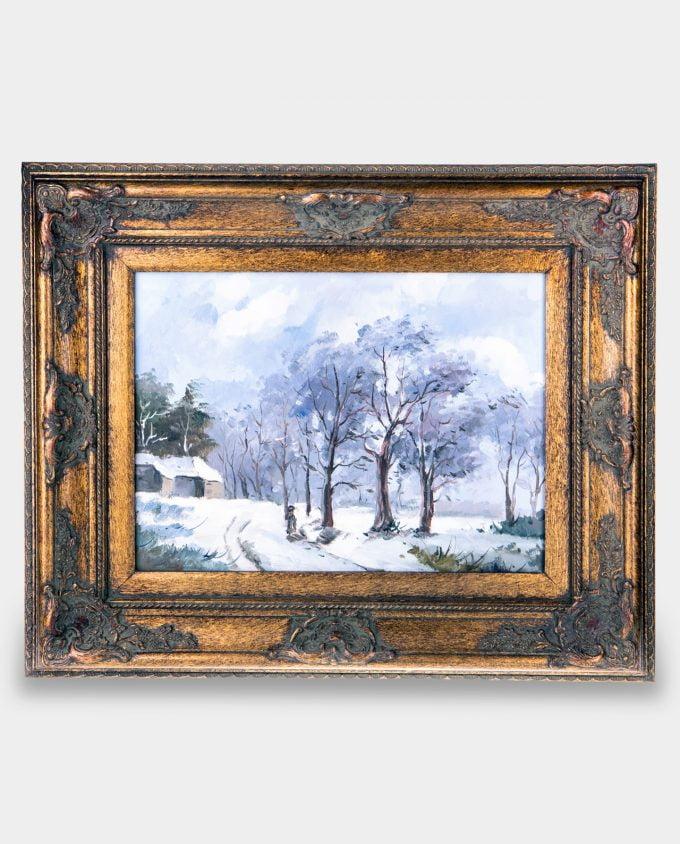 Obraz Pejzaż Zimowy Droga do Wsi